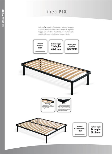 letti con doghe in legno letto rosatea in legno da una piazza e mezza con rete a