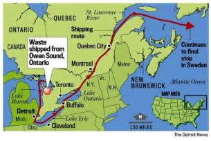 canada map st river mohawk communities oppose nuclear waste shipment