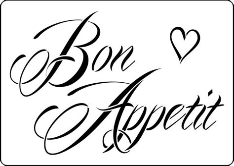 Vintage Kitchen Designs Bon Appetit Vintage Style Stencil To Buy Online Now