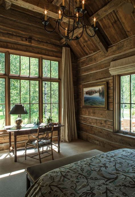 woodland cabin enriches  surroundings   rustic