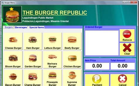 Ordering Systems burger ordering system free source code tutorials and