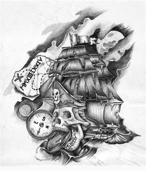 pirate skeleton sitting tattoo design 95 best images on pirate boats pirate