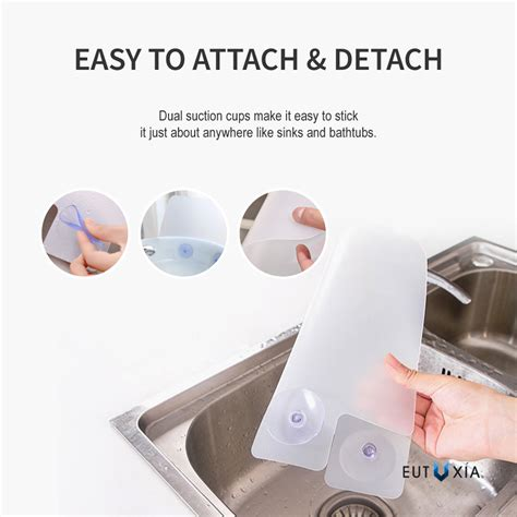 kitchen sink splash guard silicone sink splash guard w suction cups ebay
