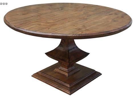 Restaurant Pedestal Table Algonquin Round Trestle Dining Table Mediterranean