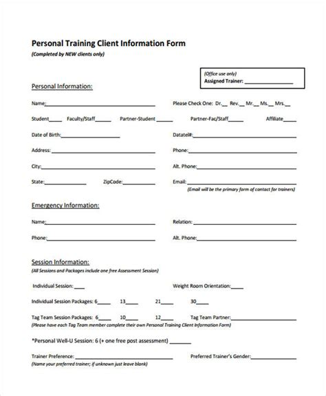 client assessment form template needs assessment form template