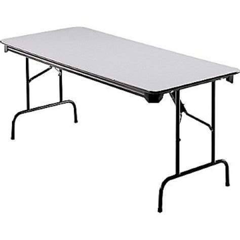 6 ft wood folding table 6 ft folding banquet table wood w steel frame grey
