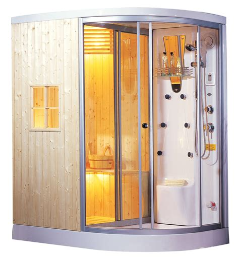 cabina sauna cabina de sauna y vapor madera sellada ag 0201