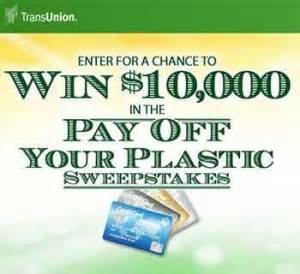 transunion com power to achieve pay off your plastic - Pay Off My Debt Sweepstakes