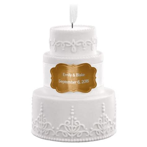 Wedding Cake Ornament by Wedding Cake Personalized Ornament Personalized