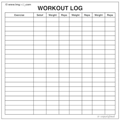 Printable Workout Log Excel exercise sheet template printable weekly workout log