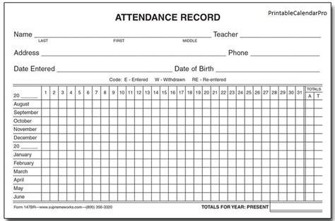 2018 employee attendance tracking calendar 2018 calendar template