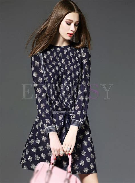 Sleeve Print A Line Dress silk sleeve print a line dress ezpopsy