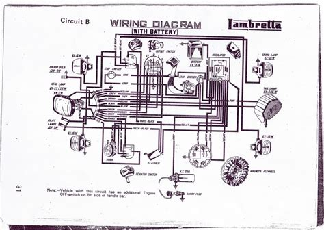 lambretta wiring diagram with indicators efcaviation