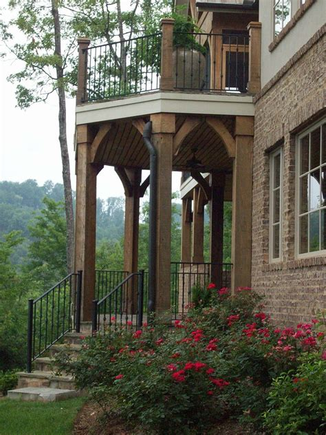 Banister In Spanish Wrought Iron Railings Patio Rustic With Balcony Brick Wall