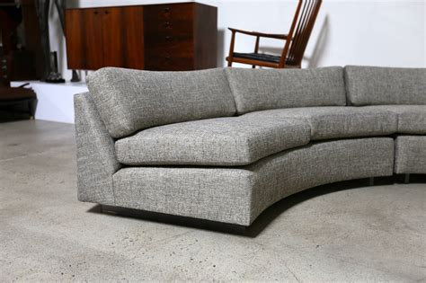 circular sectional sofa circular sectional sofa by milo baughman at 1stdibs