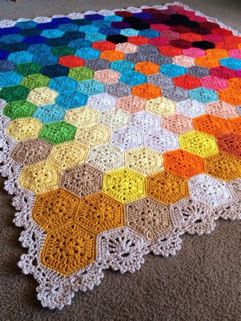 Hexagon Patchwork Blanket - 25 best ideas about crochet hexagon blanket on