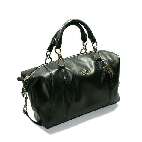 Coach Leather Satchel by Coach Collette Leather Satchel Shoulder Bag Black 33806