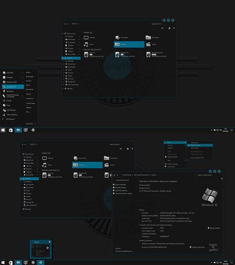 themes for windows 10 1709 gray10 special edition for windows 10 rs 2 by gsw953onda