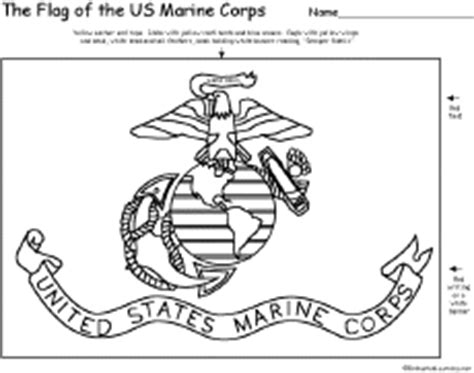 army themed coloring pages flag of us marine corps printout enchantedlearning com