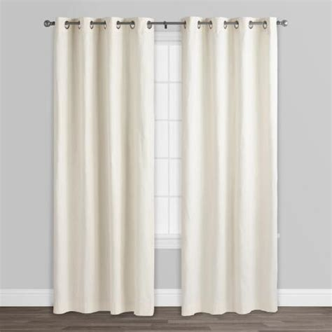 ivory cotton curtains ivory harlow grommet top cotton curtains set of 2 world