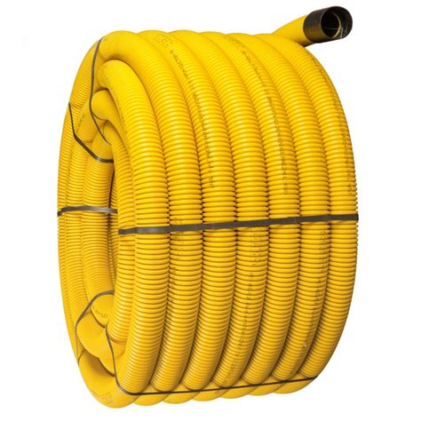 63mm x 50m yellow twinwall gas pipe duct drain depot