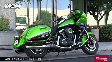 Motorcycle Green Slip by Slash Slip Ons For 2012 Kawasaki Vulcan 1700