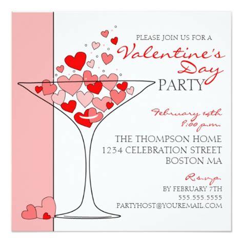 valentines invitation cocktail invitation zazzle