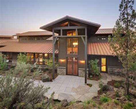 rustic modern home exterior design of house of mirth by tan roof home design ideas pictures remodel and decor