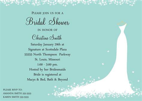 bridal shower invitation bride