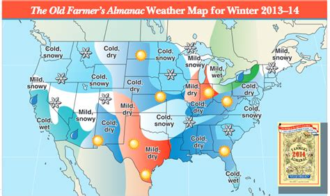 2014 2015 winter weather forecast map u s old farmer review of farmers almanac 2013 14 winter and summer forecasts