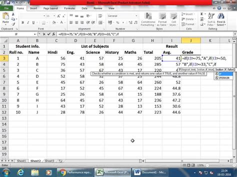 excel tutorial 2010 if function how to nested if in excel 2010 nested if statements