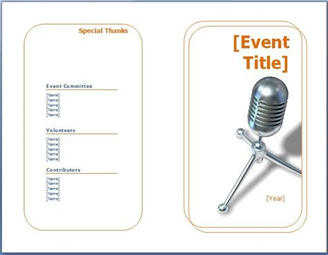 Event Program Template by Event Schedule Template New Calendar Template Site