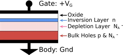 mos capacitor n type transistores fet y mosfet