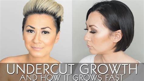 growing out womens undercut my undercut growth and how it grows fast youtube