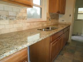 pictures of kitchen backsplashes with granite countertops integrity installations a division of front range backsplash just completed 3x6