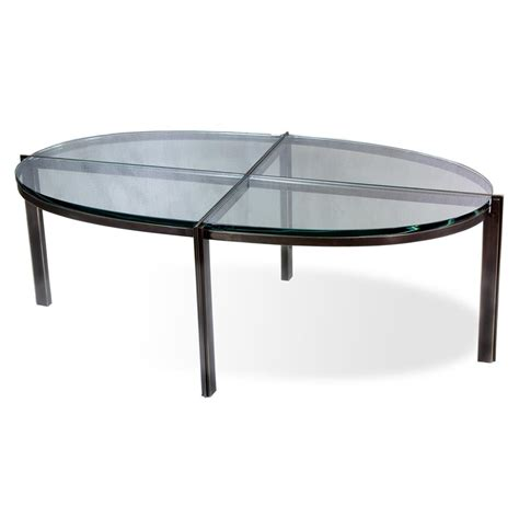 Metal Glass Coffee Tables Zula Quadrant Modern Rubbed Bronze Oval Glass Metal Coffee Table Kathy Kuo Home
