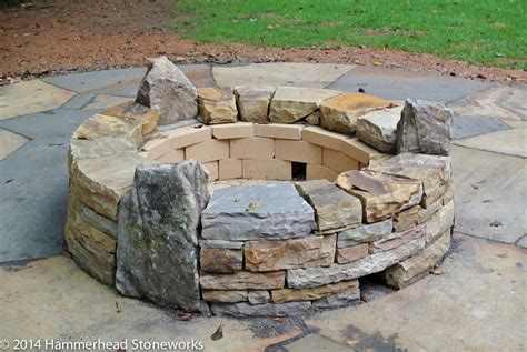 building a pit with rocks pits fireplaces hammerhead stoneworks asheville