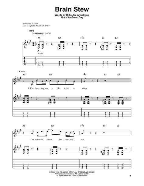 Brain Stew Guitar Chords
