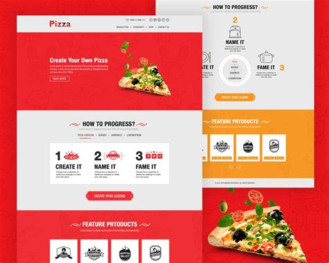 Pizza Website Template Free Psd Download Download Psd Pizza Website Template