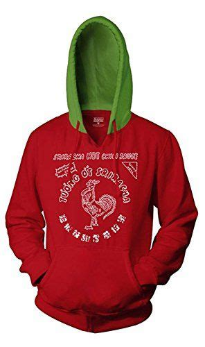 sriracha bottle back sriracha bottle label hoodie with green medium
