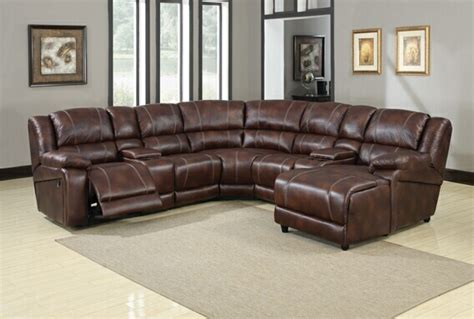7 Leather Sectional Sofa 7 sectional sofa faux leather reclining sectional