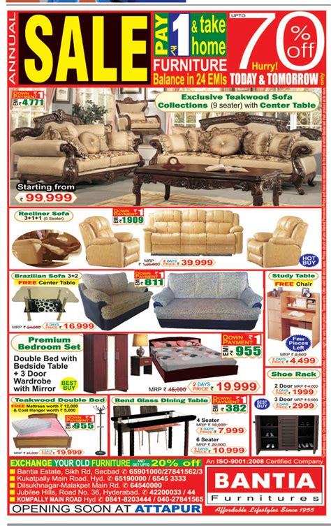 Home Furniture Shopping Hyderabad Flatoff In Offers Discounts In Hyderabad Offers On