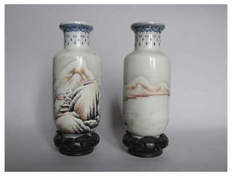 vasi antichi cinesi coppia di piccoli vasi cinesi di epoca repubblicana