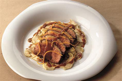 anatra cucina ricetta arance nel petto di anatra ai carciofi le