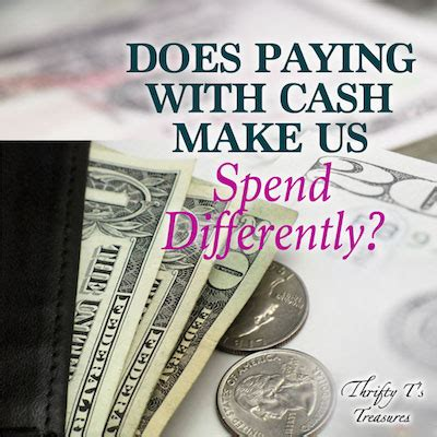 paying  cash   spend differently