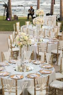 Bride And Groom Chair Covers Chic Romantic Blush Amp Gold Wedding D 233 Cor At The Fiesta Americana Cabo Linens Things And More
