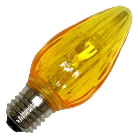 yellow led light bulbs lighting 22706 f15 medium base yellow