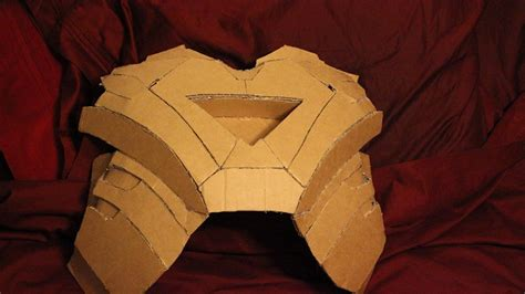 How To Make Iron Suit Out Of Paper - cardboard mk 6 wearing the suit page 2