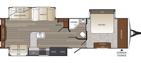 outback travel trailer floor plans 2017 keystone outback 326rl cing world of oxford