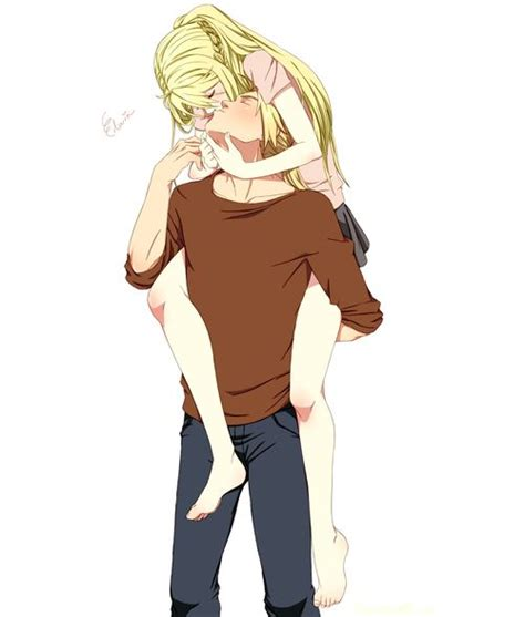 fullmetal alchemist brotherhood edward and winry kiss edxwin kiss this is adorable